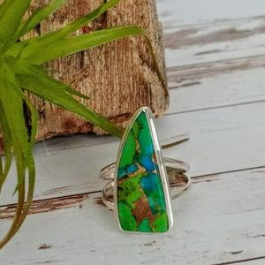 Turquoise in Green Mohave Ring
